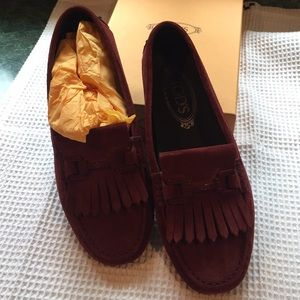 Reddish brown (rustic colored) Tod's Loafers